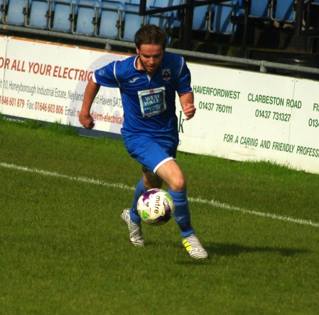 Steffan Williams scored twice for Haverfordwest County