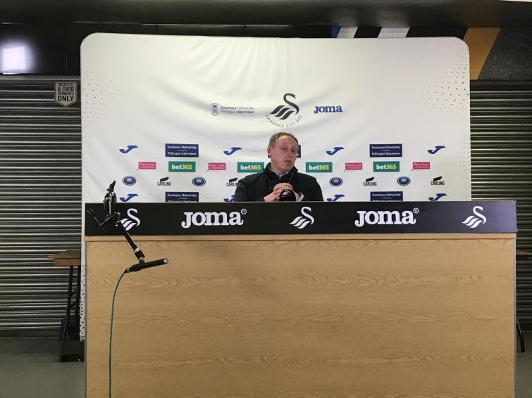 Swansea City boss Steve Cooper was delighted at the press conference