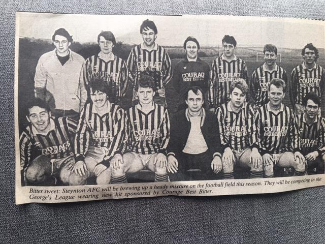 Steynton AFC had a bitter sweet 1986-87 season