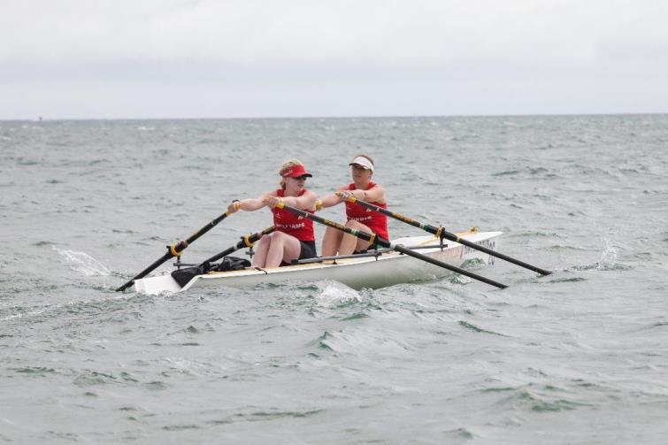 Swyn Williams rowing hard