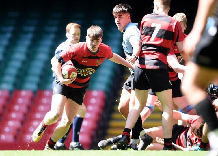 Tenby Youth in action at the Principality Stadium