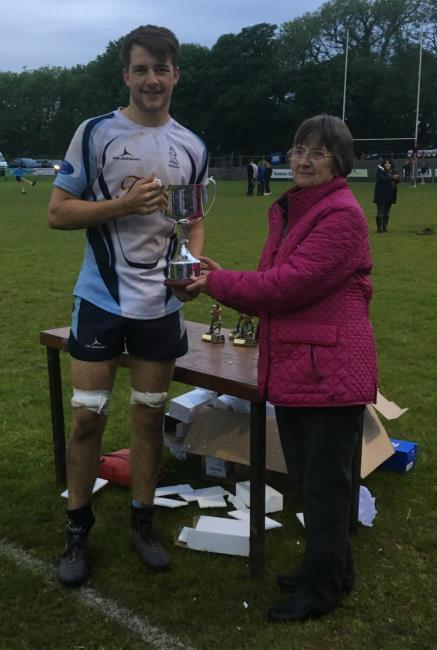 Under 17s Cup - Narberth captain  Dafydd Gibby