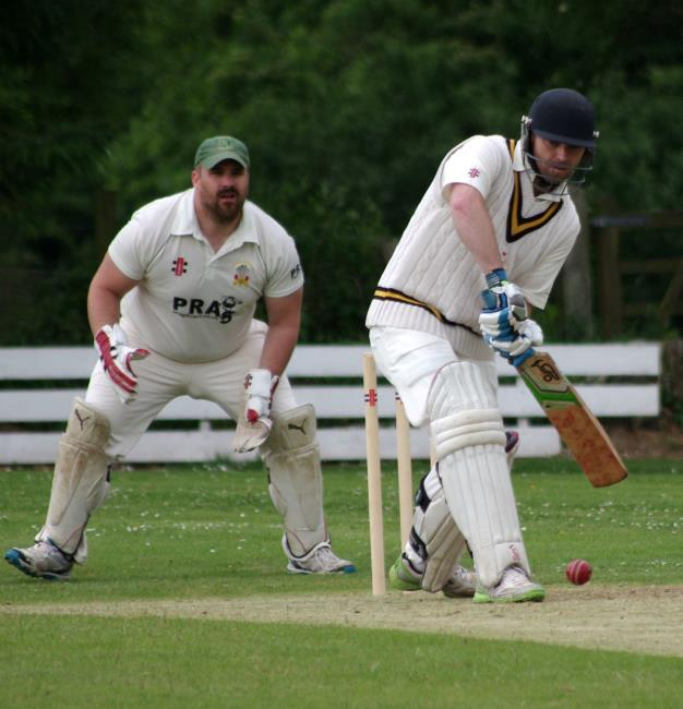 Opener Will Beresford guided Llangwm to victory with 69 not out