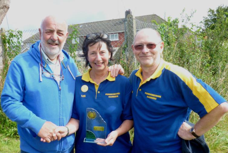 Bill Carne with Liz and Nigel Rowland