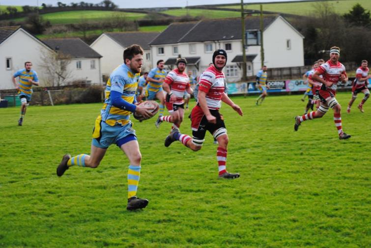 Action from Laugharne as Milford Haven gained a slender bonus-point win