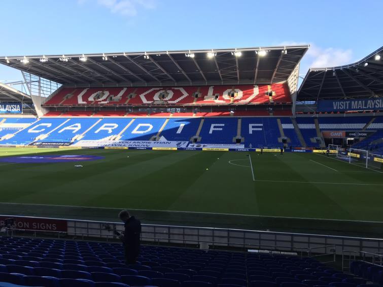 Empty Cardiff City Stadium as Swansea City beat Cardiff City 2-0 in the Championship