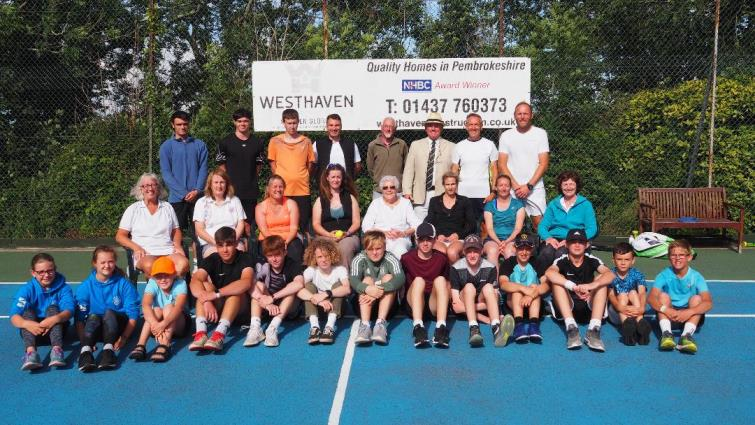 Pembrokeshire County tennis tournament finalists