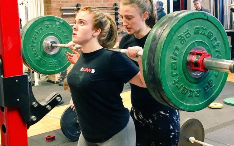 Young weight lifters